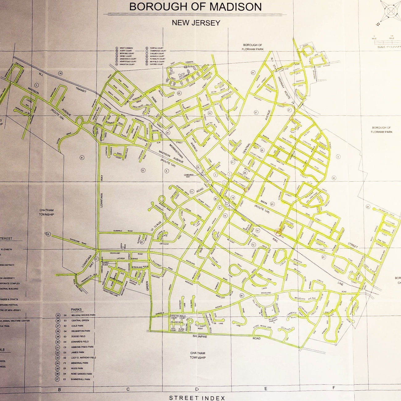 map of madison walking v.3