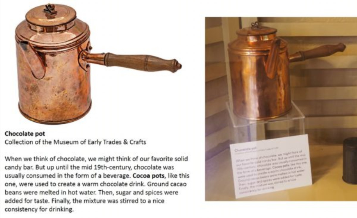 Chocolate Pot Exhibit